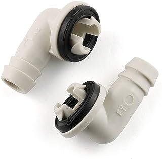 E-outstanding 空调排水接头 2 件 3/5 英寸(约 1.9 厘米)交流排水软管弯头配件带橡胶环,适用于窗口 AC 和迷你分割单元