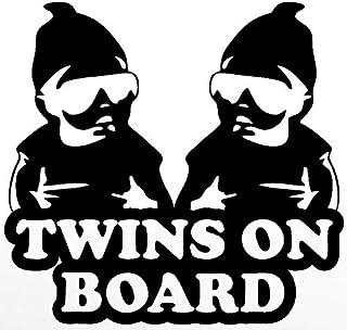 双胞胎乙烯基贴纸 汽车卡车货车墙壁笔记本电脑 黑色 5.5 x 5.2 英寸 DUC543