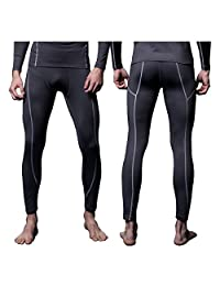 FITEXTREME 男式 MAXHEAT 压缩性能长款紧身裤 保暖内衣