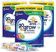 Abbott 雅培 Similac 恩美力系列 Go&Grow 铂优恩美力 牛奶型婴幼儿饮品 奶粉(3件装),36盎司,1.02千克,2.25升,罐装+ 2,随行随身包