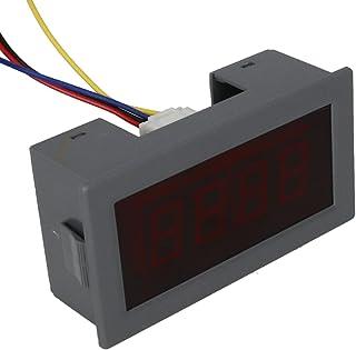 Heyiarbeit 直流电压表 YB5135 数字红色文字 LED 数字伏电压表 4 根电线连接用于直流电压测量 1 件