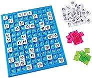 Learning Resources 120數字板 百數板 計數板 學習早教教具 托盤和編號瓷磚 通用核心數學 181塊 年齡6歲以上