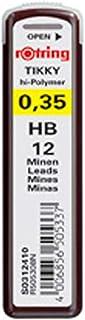 Rotring 红环 Hi-Polymer 替换笔芯 用于精细机械铅笔 0.50 毫米 HB 2 × 12 笔芯 Hi-Polymer HB 0.35 mm 透明
