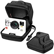 Fintie 便携便携包 适用于 Polaroid Originals OneStep 2 VF 即时胶片相机 - [完美贴合设计] 硬质 EVA 防震存储旅行罩带可调节手带和金属挂钩(黑色)