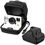 Fintie 便攜便攜包 適用于 Polaroid Originals OneStep 2 VF 即時膠片相機 - [完美貼合設計] 硬質 EVA 防震存儲旅行罩帶可調節手帶和金屬掛鉤(黑色)