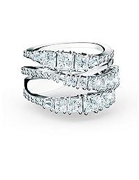 施华洛世奇缠绕式戒指 银色 7