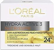 L'Oréal Paris 巴黎欧莱雅 Hydra Active 3 Nutrissime 三效清润保湿日霜,适用于干性肤质,深度护理,