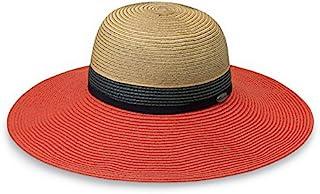Wallaroo Hat Company 女式圣特罗佩斯遮阳帽 – UPF 50+,宽边,优雅三色风格,澳大利亚设计