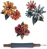 Sizzix Thinlits 模具套装,Tim Holtz 精心设计的碎花花卉(15 件装)