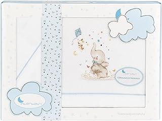 "Coralina 婴儿车床上用品套装 ""大象"" 白色和蓝色"