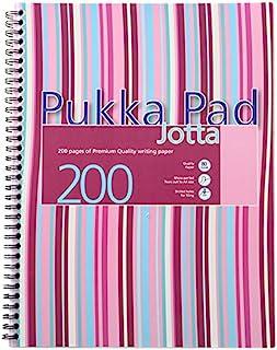 pukka 英国 条纹系列 商务 易撕取 可装订 粉色PP封面A4笔记本 JP018