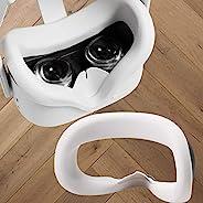 Topcovos *新 VR 硅胶面罩 适用于 Oculus Quest 2 面部保护皮肤防汗、防漏