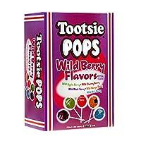Tootsie Pops 什錦野生漿果口味,巧克力中心巧克力味,3.75 磅,100 個贈品盒,不含花生 Assorted Wild Berry 100-Count