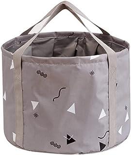 KADBLE 可折叠足浴盆,修脚足 Spa 浸泡浴盆,多功能可折叠桶,适用于露营、洗涤、钓鱼(灰色,25 升)