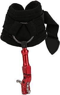 Qiilu 复合弓释放辅助器,318 钩型手腕带射箭扳机复合物户外弓箭射击辅助释放辅助配件(红色)