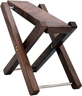 木质吉他脚凳,3 档高度可调节吉他脚凳/实木折叠脚凳,踏板黑核桃(吉他踏板黑核桃)