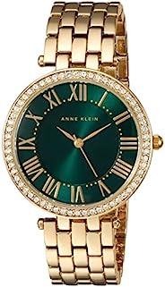 Anne Klein AK / 2230GNGB 女士施華洛世奇水晶重音手鏈手表,Gold/Green