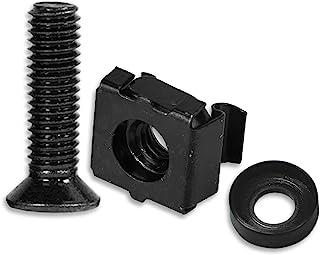 Cage 螺母工具 M6 机架螺丝和垫圈 50 件套 用于设备服务器机架、外壳和橱柜机架配件