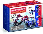 Magformers 717001 惊人的警察和救援套装,磁性构造玩具,红色,蓝色,黑色,灰色