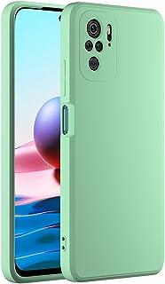 Cresee 兼容小米 Redmi Note 10 手机壳,薄硅胶套,带超细纤维内部摄像头保护,防刮超薄贴合弹性手机壳,适用于 Redmi Note 10 4G - *