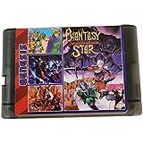200 合 1 游戏盒 16 位游戏卡,适用于 Sega Mega Drive Genesis 控制台(黑色透明)
