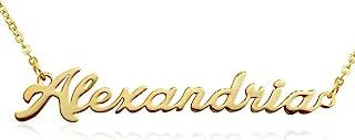 Beam Reach 个性化名字项链金色吊坠,可立即购买 100 个名字!