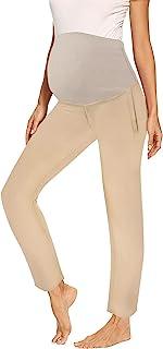 PAWCUSS 女式孕妇弹力全长修身打底裤秋冬肚子孕妇运动瑜伽裤