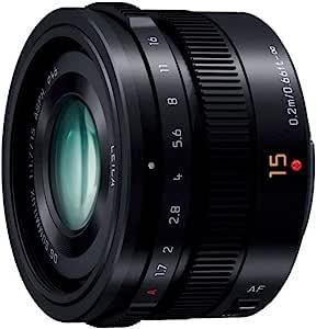 松下 LUMIX G LEICA DG SUMMILUX 15 毫米 / F1.7 ASPH。 H-X015 -K(黑色)- 国际版