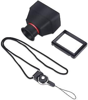 Pupilash 取景器 - 3X 取景器 耐用 3.2 英寸 LCD 取景器 3X 放大镜配件 适用于数码单反相机