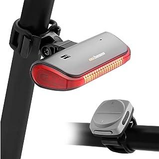 nubeam NB-600 自行车转向信号 防盗报警 尾灯电子喇叭 USB充电 无线(颜色:深银色)