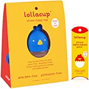 Lollaland Lollacup - 婴儿/幼儿带吸管杯 Blue Cup with Straw Pack