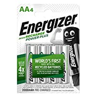 Energizer POWER PLUS 充電 AA 充電電池4個裝