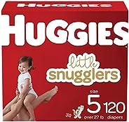 Huggies Little Snugglers 婴儿纸尿裤,尺寸 5,120 片