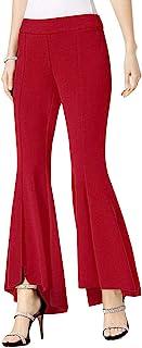INC International Concepts 女式曲线喇叭高腰裤 真红色 16