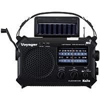 Kaito KA500 5 路动力紧急 AM/FM/SW NOAA 天气警报收音机带太阳,风应,Dynamo 曲柄,手电…