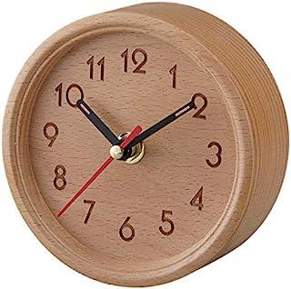 STELA STAGE 木制时钟 A 圆形阿拉伯图案
