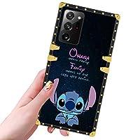 DISNEY COLLECTION 三星 Galaxy Note 20 Ultra Case Stitch 圖案設計閃光金色超薄炫酷防震防撞保護 Galaxy Note 20 Ultra Cover 6.9 英寸 2020