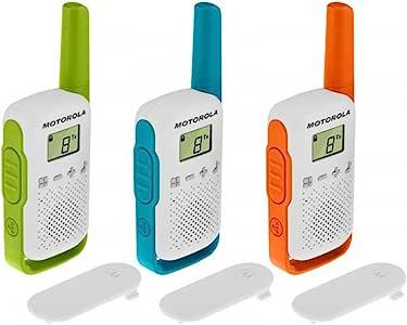 Motorola 摩托罗拉 T42 Talkabout PMR446 双向对讲机便携式收音机(3 件装)