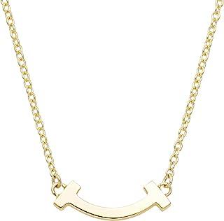 TIFFANY 蒂芙尼 18KYG Tiffany T 微笑吊坠项链 41厘米~46厘米 [正规进口商品] 62617659
