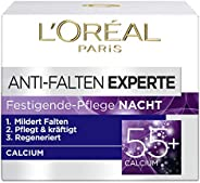 L'Oréal Paris 巴黎欧莱雅 抗皱晚霜 抗皱专家 55+ 含钙 适用于55岁以上女性,3包装(3 x 5