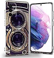 老式相机适用于三星 A52 4G / 5G 保护套男女男孩,酷炫复古 70 年代 80 年代 90 年代老式复古相机保护套适用于 Samsung 三星 A52 4G/5G 趣味复古外观柔软超薄硅胶外壳