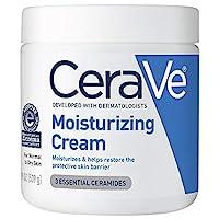 CeraVe 保湿霜| 19盎司/539克| 日用面部和身体保湿霜,适合干性皮肤