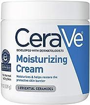 CeraVe 保濕霜| 19盎司/539克| 日用面部和身體保濕霜,適合干性皮膚