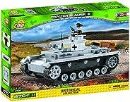 COBI 3号E型坦克 AUSF.E 拼插玩具 坦克模型,灰色