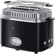 Russell Hobbs 英国领豪 烤面包机 复古倒计时显示 包括面包附件,6 档可调节烘烤级别 + 解冻和预热功能,快速烘烤技术,1300 瓦,复古 21681-56