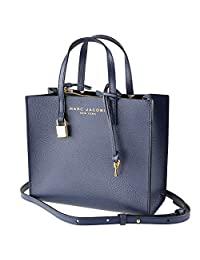 Marc Jacobs M0015685-426 迷你研磨*蓝女式皮革手提包