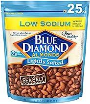 Blue Diamond Almonds 低鈉輕鹽漬杏仁, 25 盎司/709克