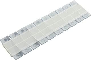 200 件透明彩色粘性后悬挂标签带挂钩,用于商店零售展示(款式 2)