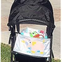 婴儿手推车整理袋美丽动物设计带钩环紧固件手推车通用收纳包 大象灰
