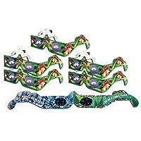 HolidayEyes(R) Jingle Bells 圣誕眼鏡 6 雙 多包裝 -5 個鈴鐺眼鏡和 1 個圣誕節/新年煙霧眼鏡 -全部折疊,隨時可戴